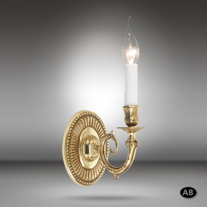 Brass wall light in 3 finishes with 1-2 lights - Riperlamp