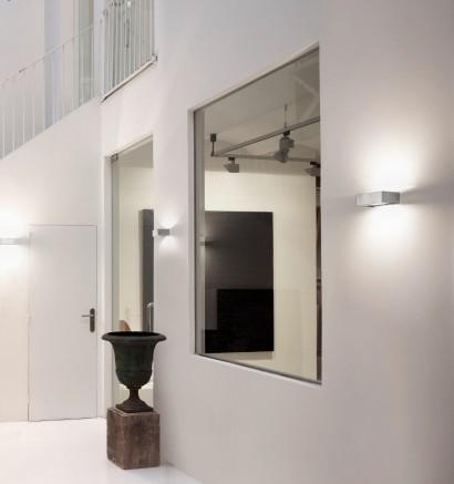Aplique de pared LED de latón níquel mate en 7 tamaños - Apolo - Pujol Iluminación