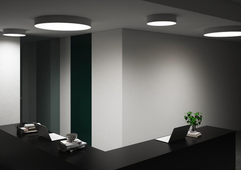 Plafón de techo moderno para oficina de Pujol Iluminación