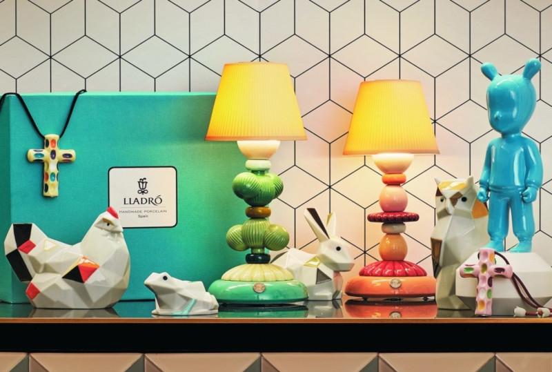 Lámpara infantil de porcelana de mesa de Lladró