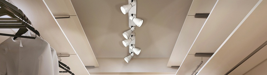 Ideas para iluminar un vestidor