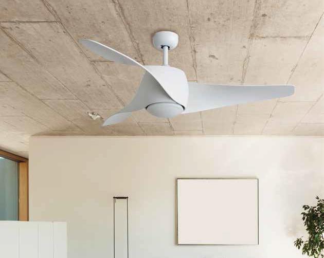 MASSMI AERO Ventilador de techo con luz blanco